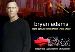 Bryan Adams To Be Honoured with Allan Slaight Humanitarian Spirit Award at CMW 2015