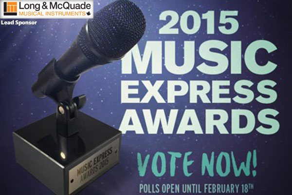 2015 Music Express Awards – VOTING OPEN