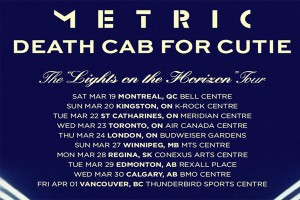 METRIC AND DEATH CAB FOR CUTIE ANNOUNCE CO-HEADLINING TOUR