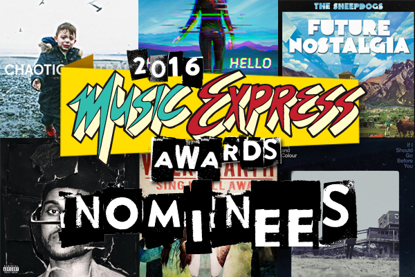 2016 Music Express Awards – Nominees Announced