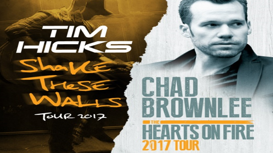 Country Stars Chad Brownlee and Tim Hicks Team Up For 2017 Co-Headlining Tour In Western Canada