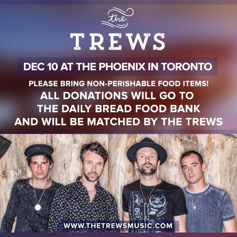 Trews' Toronto Concert A Food Bank Drive