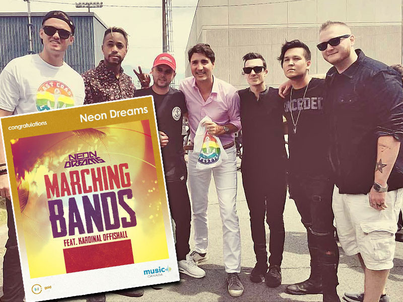 """Neon Dreams Goes Gold with """"Marching Band"""""""