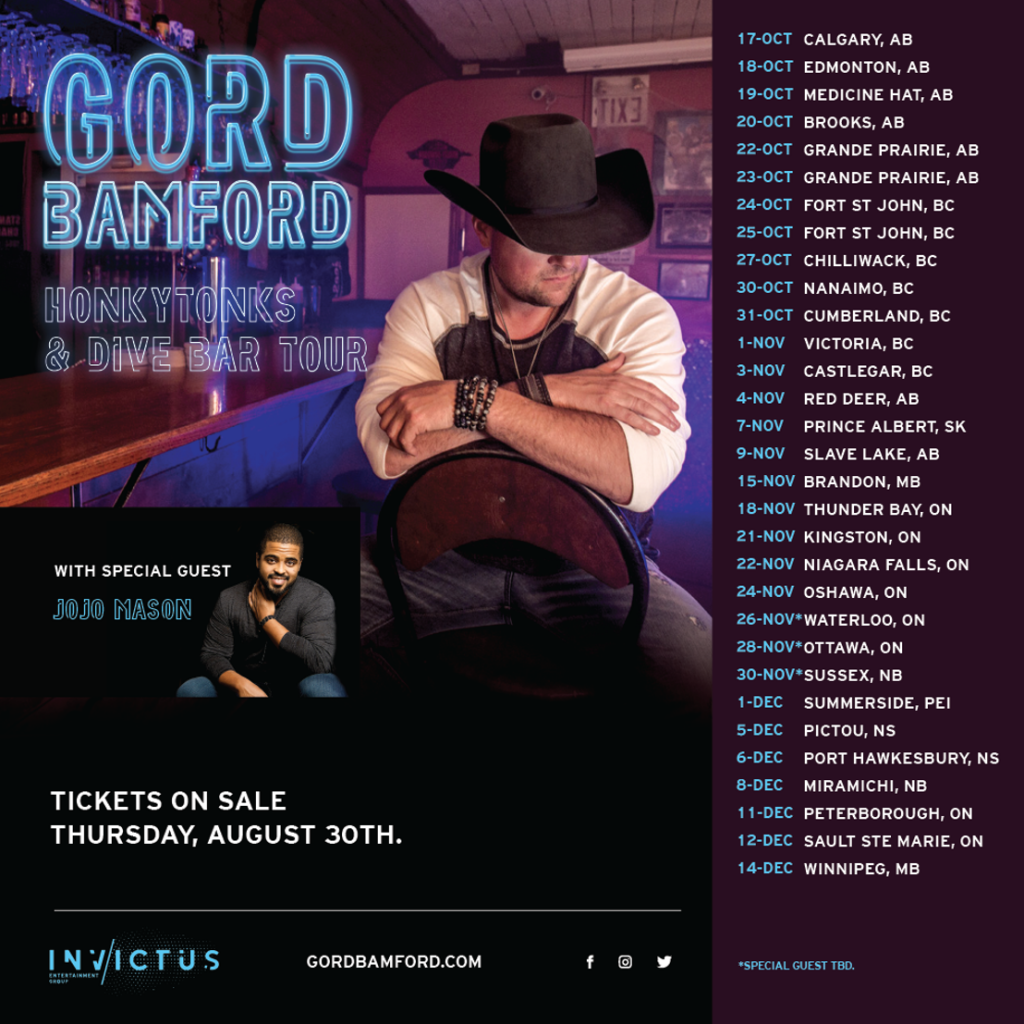 Gord Bamford Announces Honkytonks & Dive Bar Tour