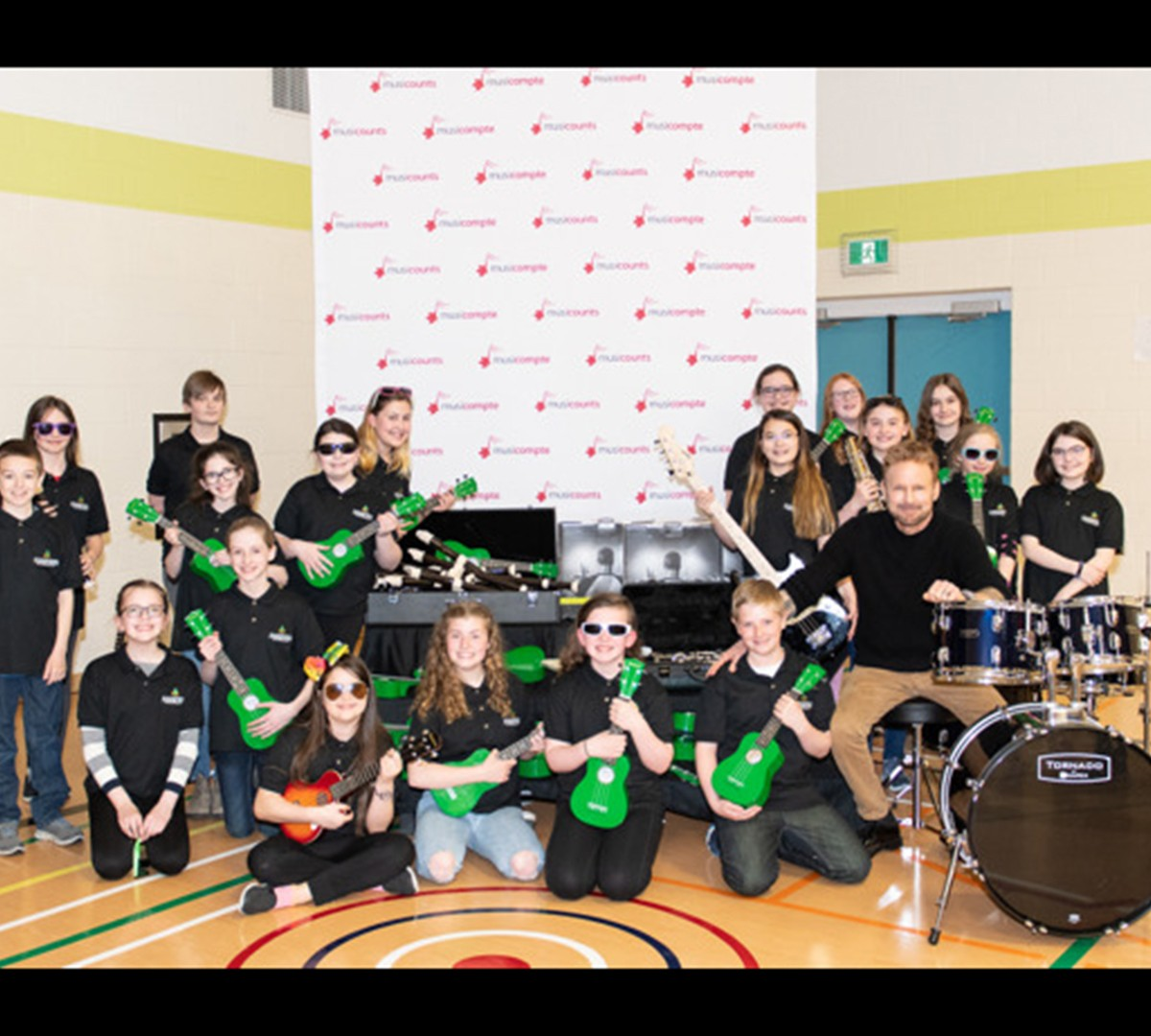 Canadian Music Icon Corey Hart Joins MusiCounts to Surprise Torbay Students