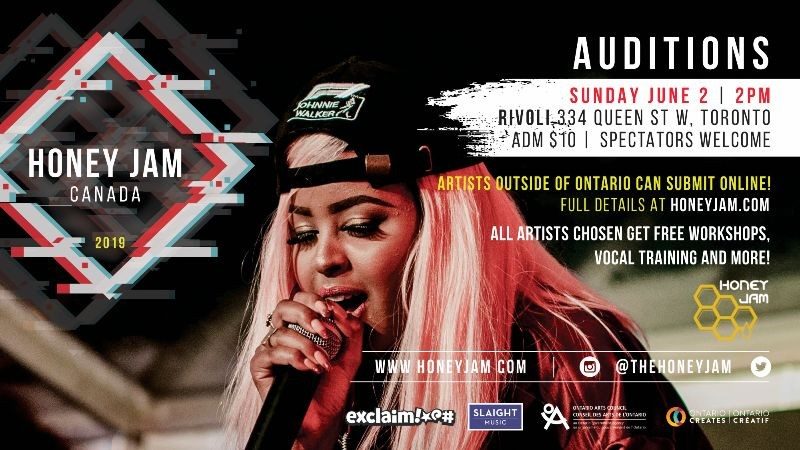 Honey Jam Auditions June 2nd in Toronto or Submit Online