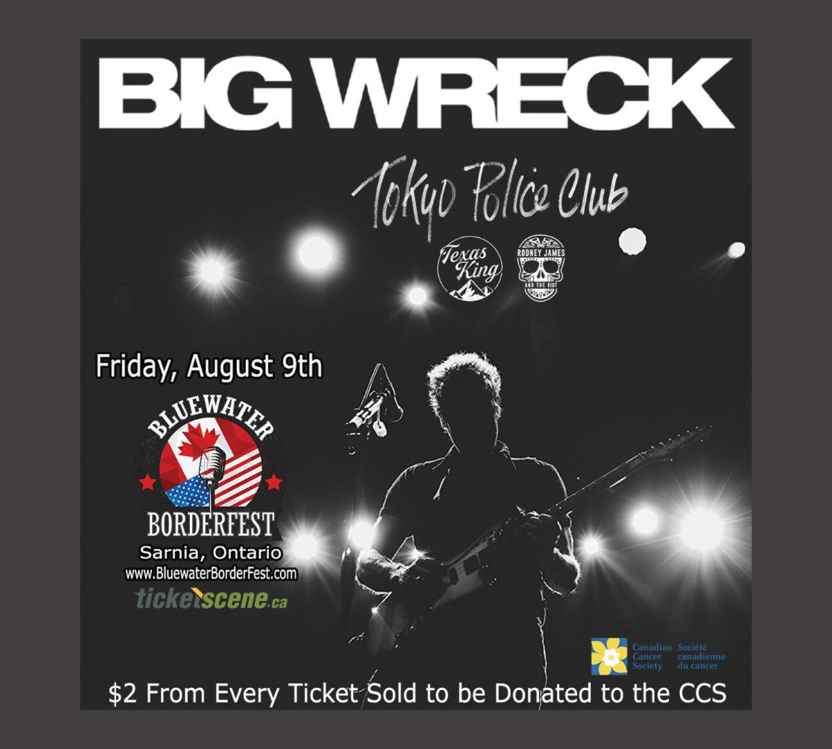 Big Wreck to Honour Brian Doherty with Performance at Blue Water Border Festival in Sarnia