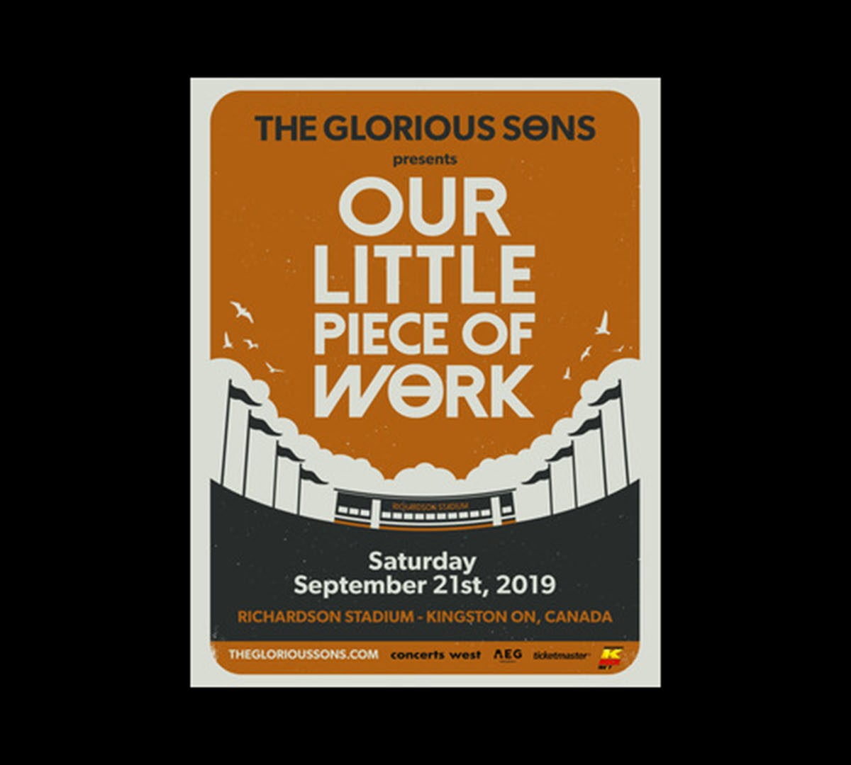 """The Glorious Sons Present: """"Our Little Piece Of Work"""" Headlining Hometown Show At Richardson Stadium, September 21"""