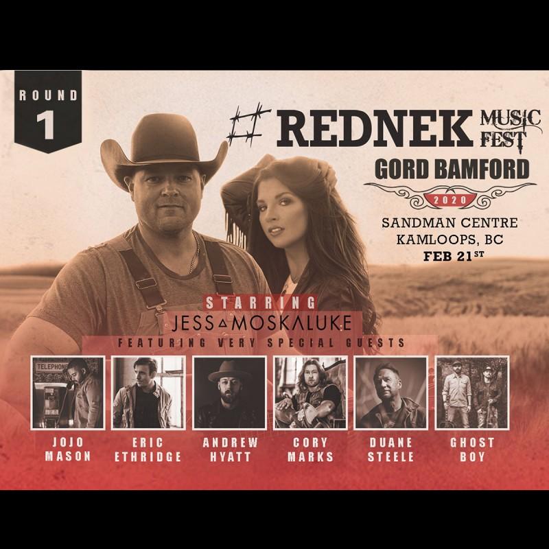Gord Bamford Announces 2020 #REDNEK Music Fest Tour Starring Jess Moskaluke And Special Guests