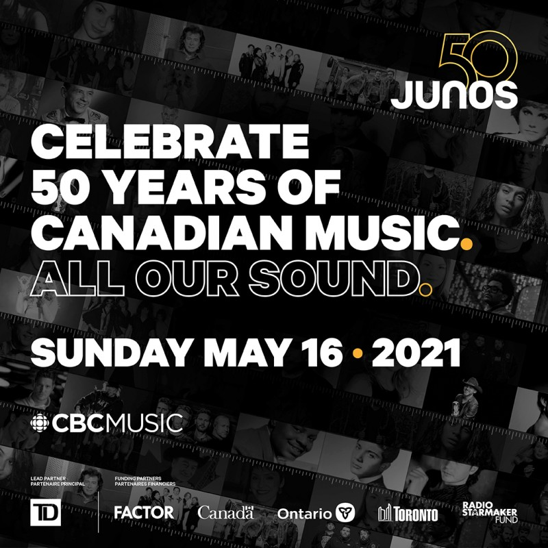 The 50th Annual JUNO Awards Pushed Back to May 16, 2021