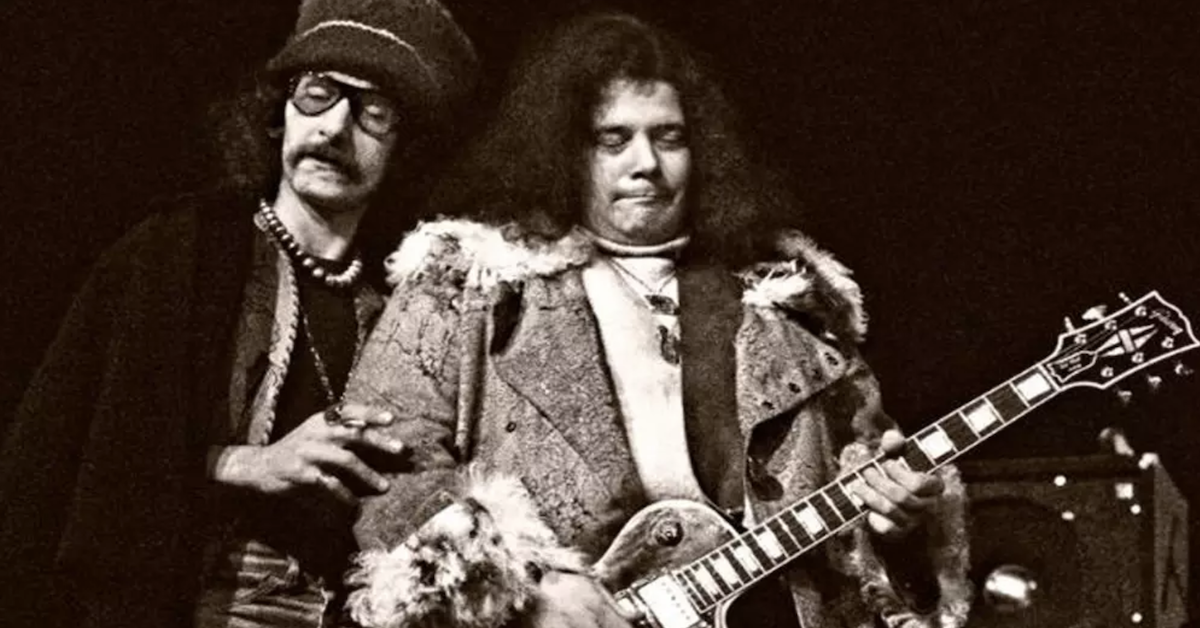 Leslie West (R) with Felix Pappalardi in Mountain