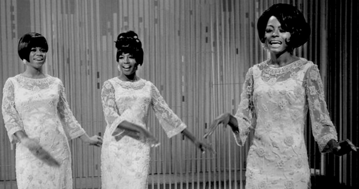 Publicity photo of The Supremes from The Ed Sullivan Show. From left: Florence Ballard, Mary Wilson, Diana Ross