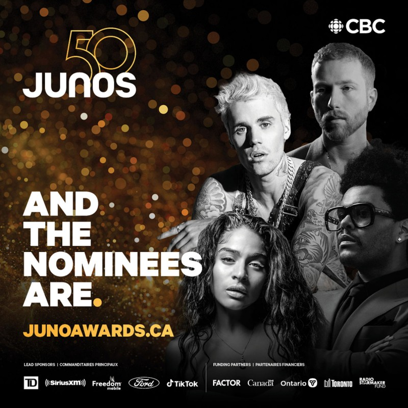 Nominations Announced for The 2021 JUNO Awards