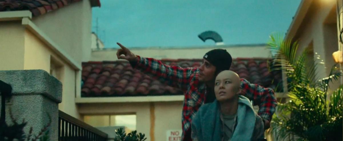 Makeup artists that covered Justin's tattoos Christina's bald cap