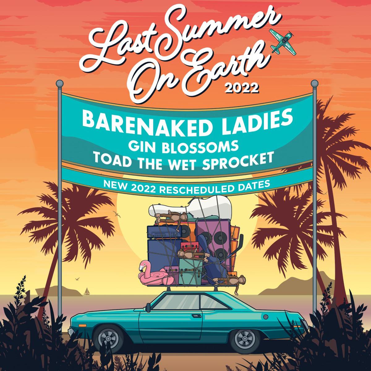 Barenaked Ladies Tour 2022 Poster
