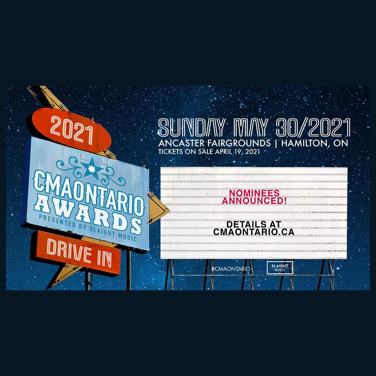 2021 CMAOntario Award Nominees Announced