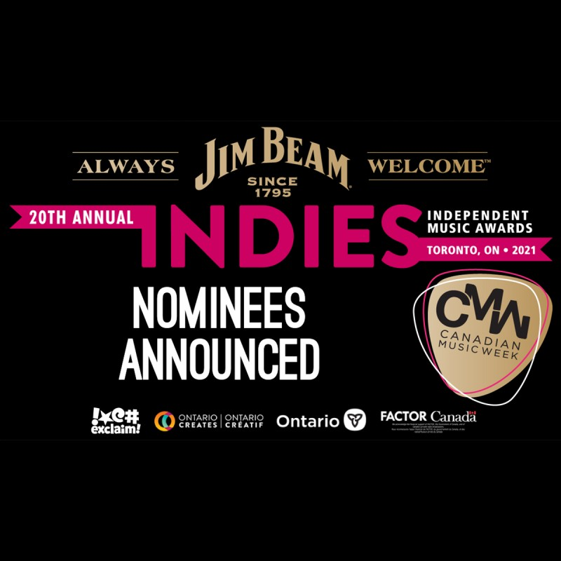 Canadian Music Week Announces Nominees for the 20th INDIE Awards