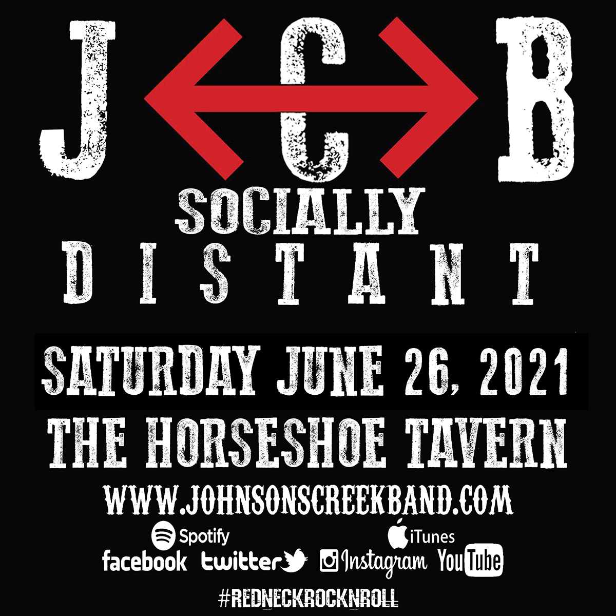 JCB Johnson's Creek Reserved Tickets for Social Distance seating at The Horseshoe Tavern Doors