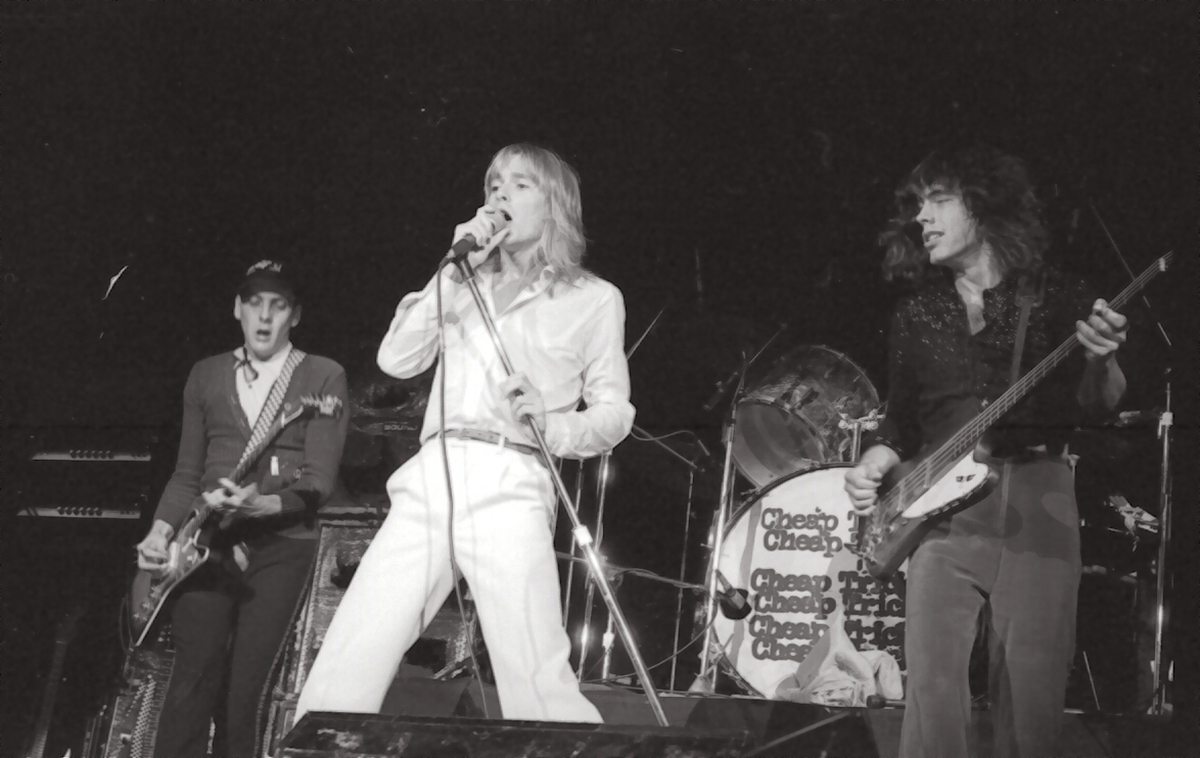 Cheap Trick Photo by Ian Mark in 1977 at their Calgary Corral appearance with KISS