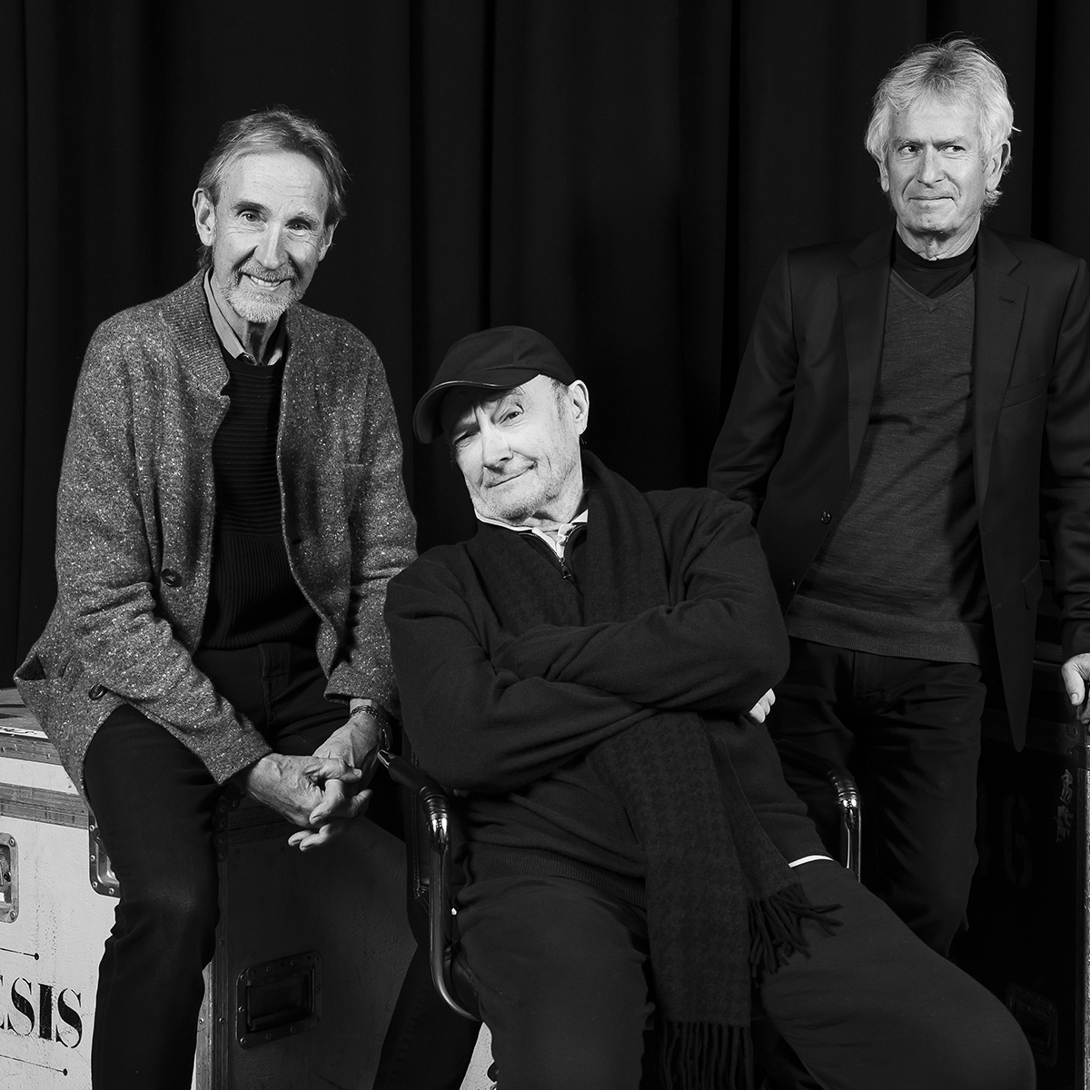 Genesis rehearsal studio photographs, Phil Collins, Mike Rutherford , Tony Banks