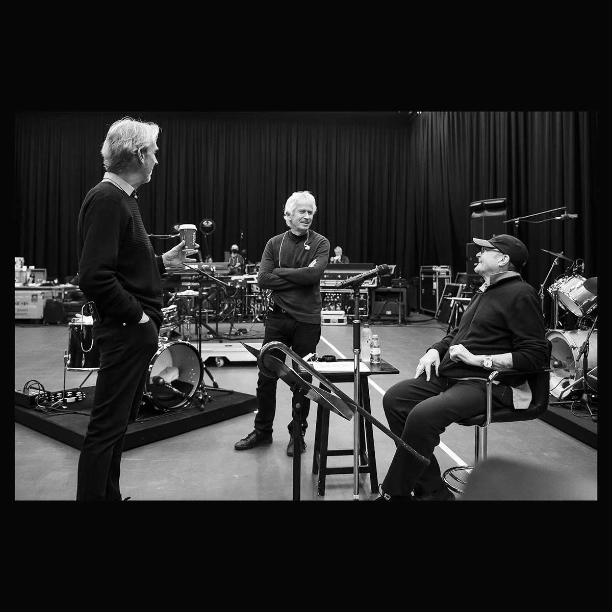 Genesis rehearsal studio photographs, Phil Collins, Mike Rutherford , Tony Banks - Photo by Will Ireland