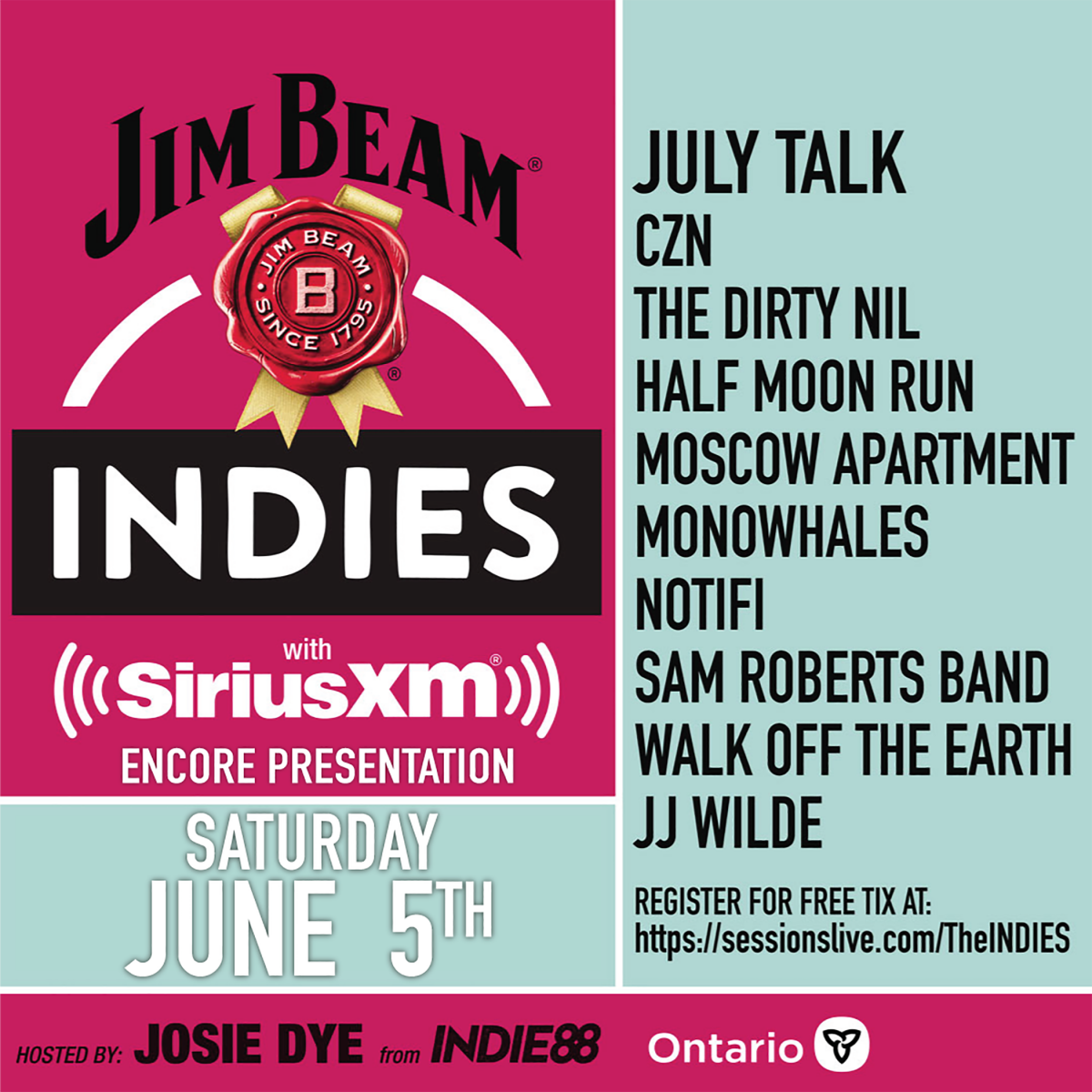 CMW Announces Winners of the 2021 Jim Beam®INDIE Awards
