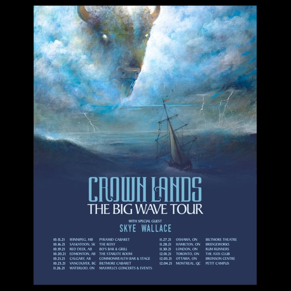"""Juno Award-Winning Rock Duo Crown Lands Announce """"The Big Wave Tour""""  With 13 Headlining Shows Across Canada"""