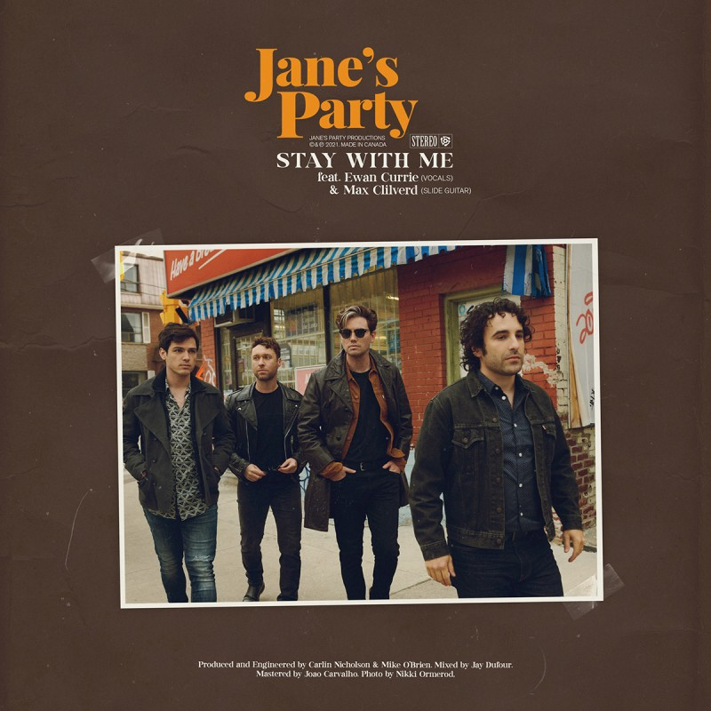 Jane's Party Release New Single & Lyric Video 'Stay With Me' ft. Ewan Currie & Max Clilverd