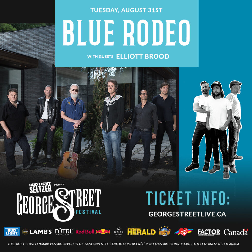 BLUE RODEO TO ROCK OUT WITH ELLIOTT BROOD, Tuesday, Augutst 31st