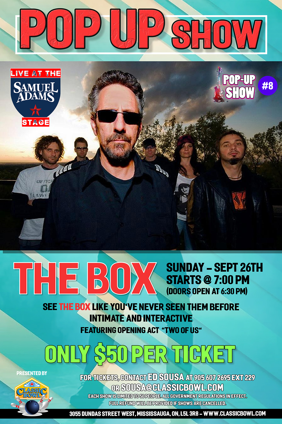 Pop Up Show #8 with The BOX, Sunday, Sept 26