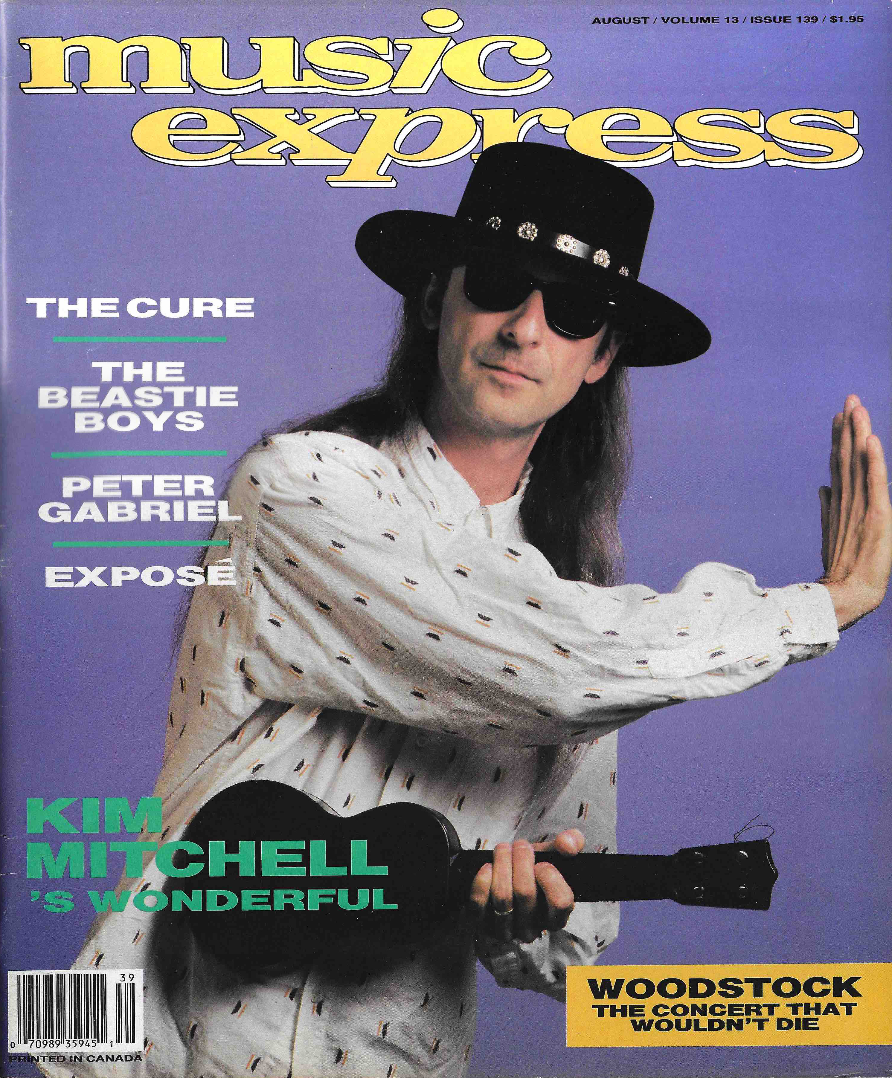ME Music Express Magazine Kim Mitchell Cover